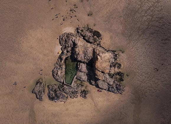 Chapel Rock Drone Print
