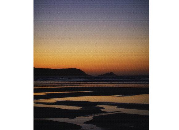 Cornwall Art Print : Fistral Sunset