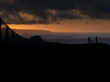 Evening Porthtowan cliff walks