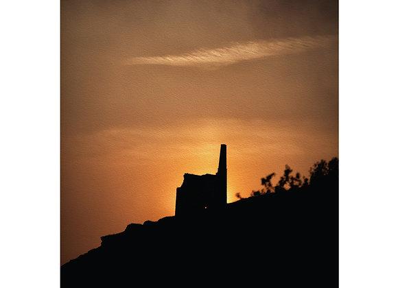 Cornwall Art Print : Mine Silhouette
