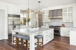 Beautiful white kitchen in new luxury ho
