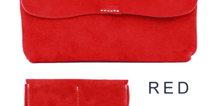 SKAZ-031 Wallet Suede Red