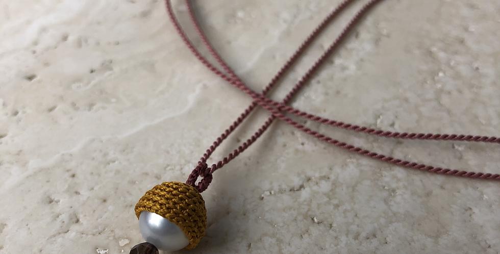 Necklace Smoky Quartz - Hessonite