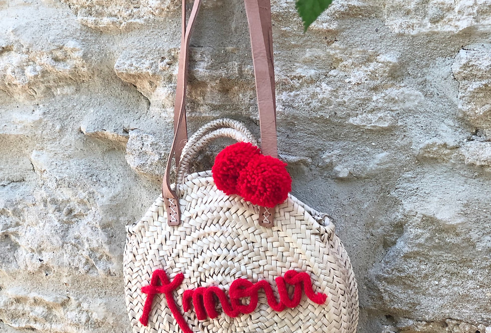 Sac Paille rouge