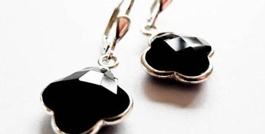 Earrings Black Onyx Silver