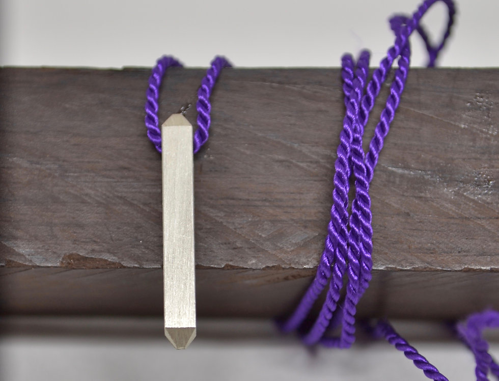 Necklace with Silver Obelisk Purple