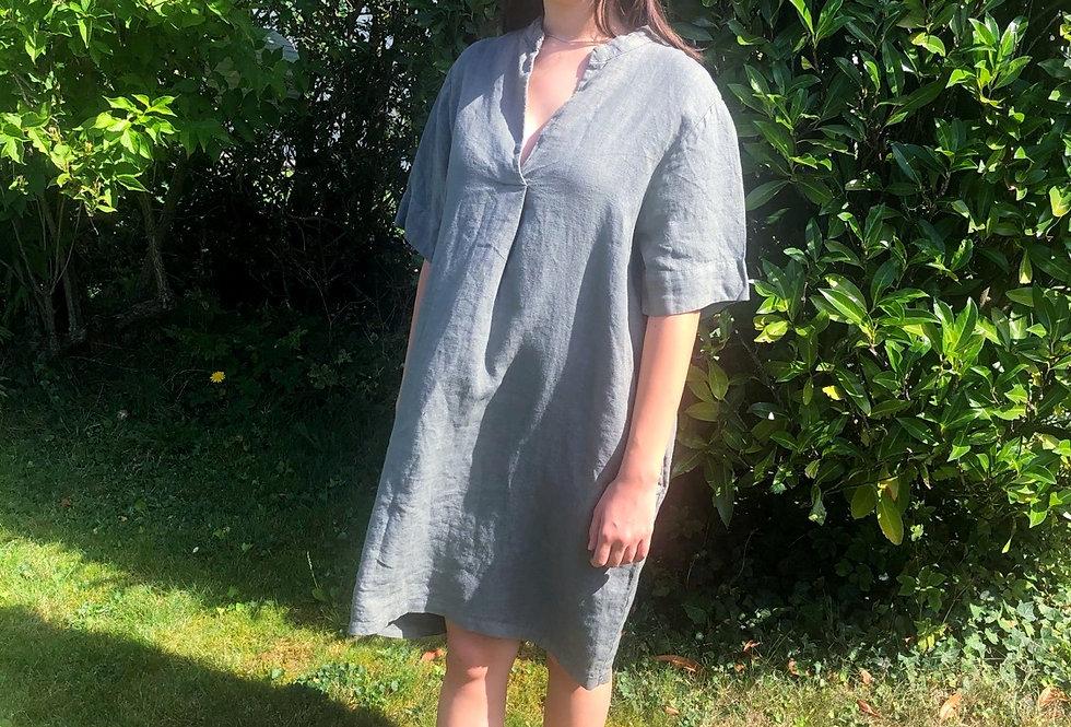 Linen Dress - Olive