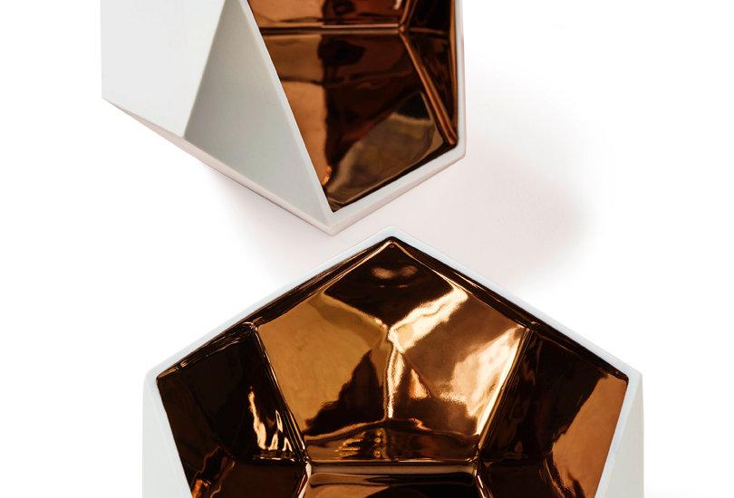 Keramik-Schale Kupfer