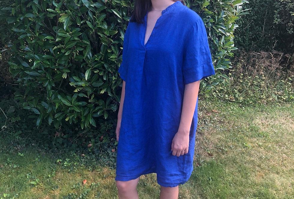 Linen Dress - Indigo