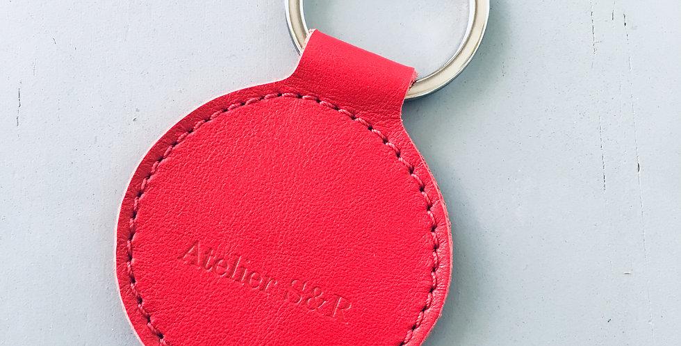 Keyholder round Red