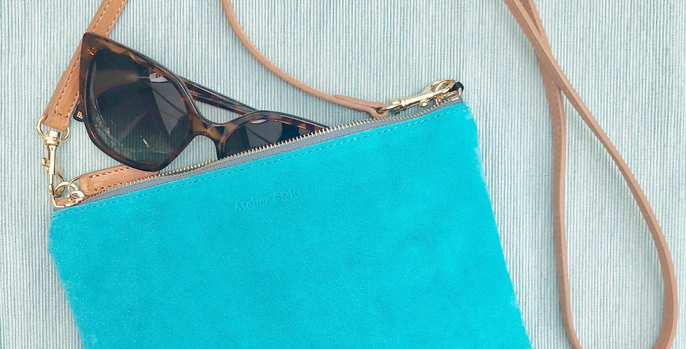 Little Bag Suede Turquoise