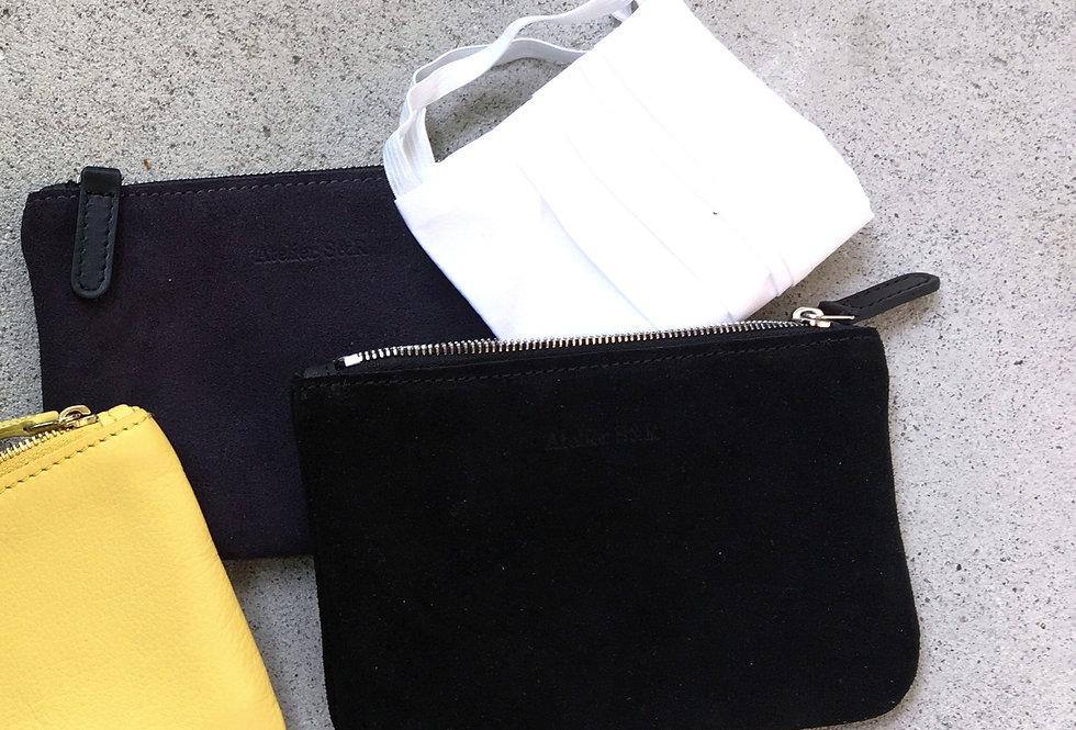 Small Wallet Black Suede