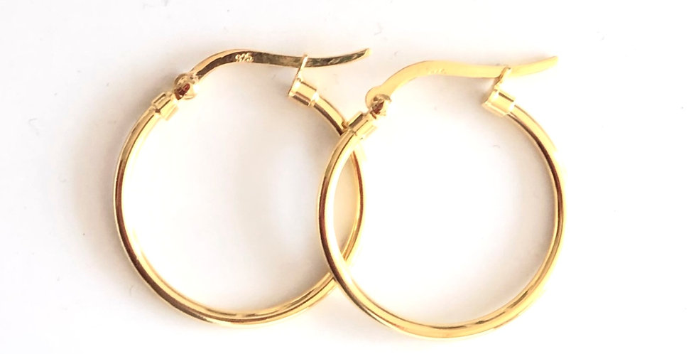 Hoops Silver gold plated