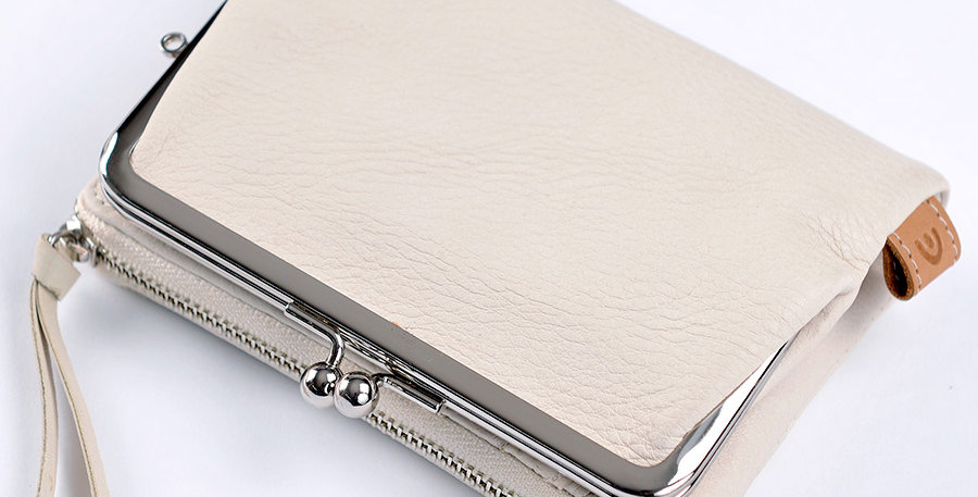 Baggy Port Try Fold Purse White