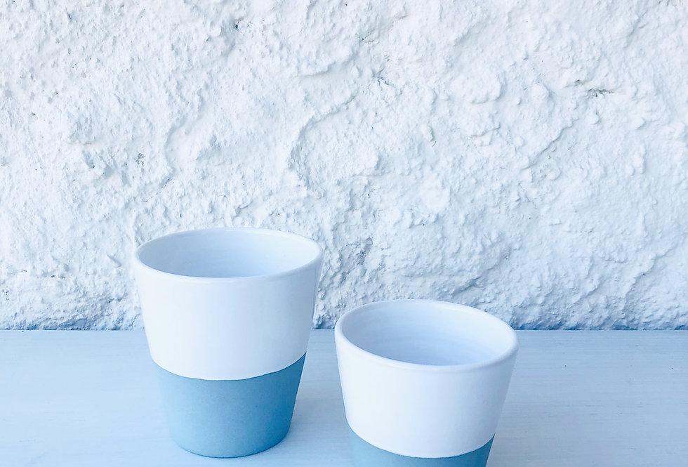 Tea Mugs - Steingut Tassen gross (2 Stück)