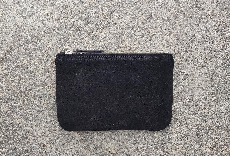 small wallet suede black - wildleder portemonnaie