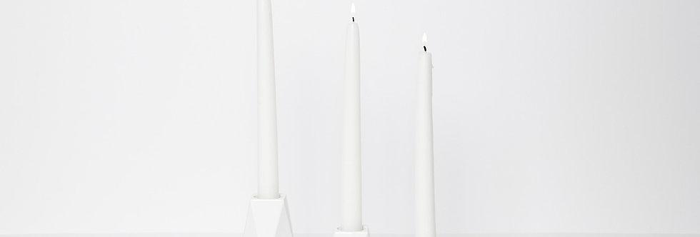Kerzenständer Karat Weiss - Set aus 3