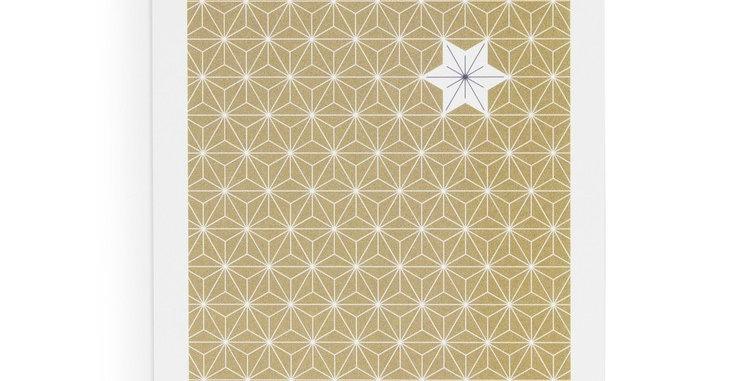 Postkarte Golden Glitter