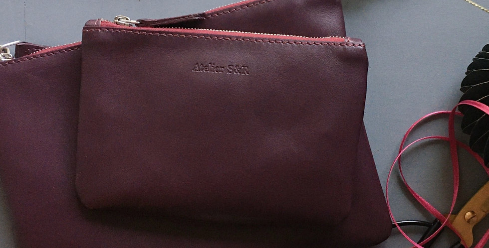 Geschenkset Little Bag Small Wallet Bordeaux