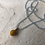 Thumbnail: Necklace Topaz with yellow Silk Pendant