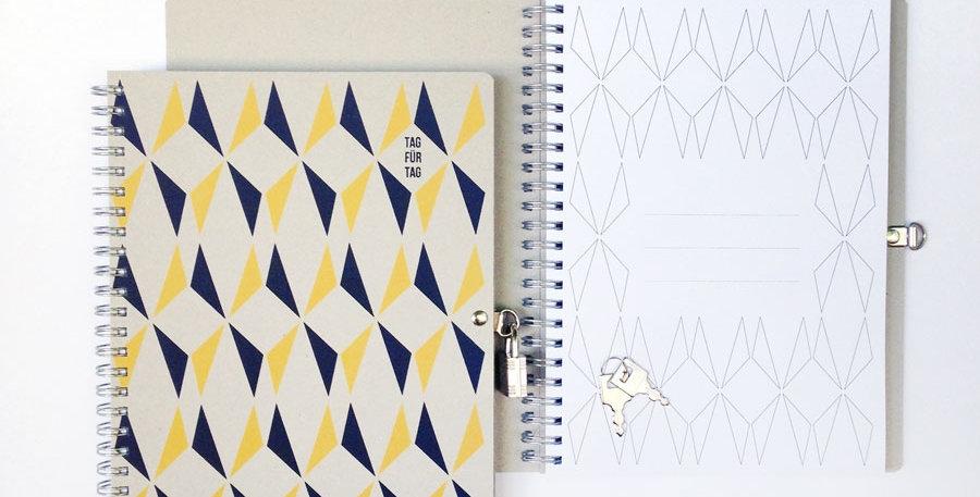 Tagebuch Tag für Tag gelb