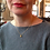 Thumbnail: Kurze Kette Silber vergoldet Dot
