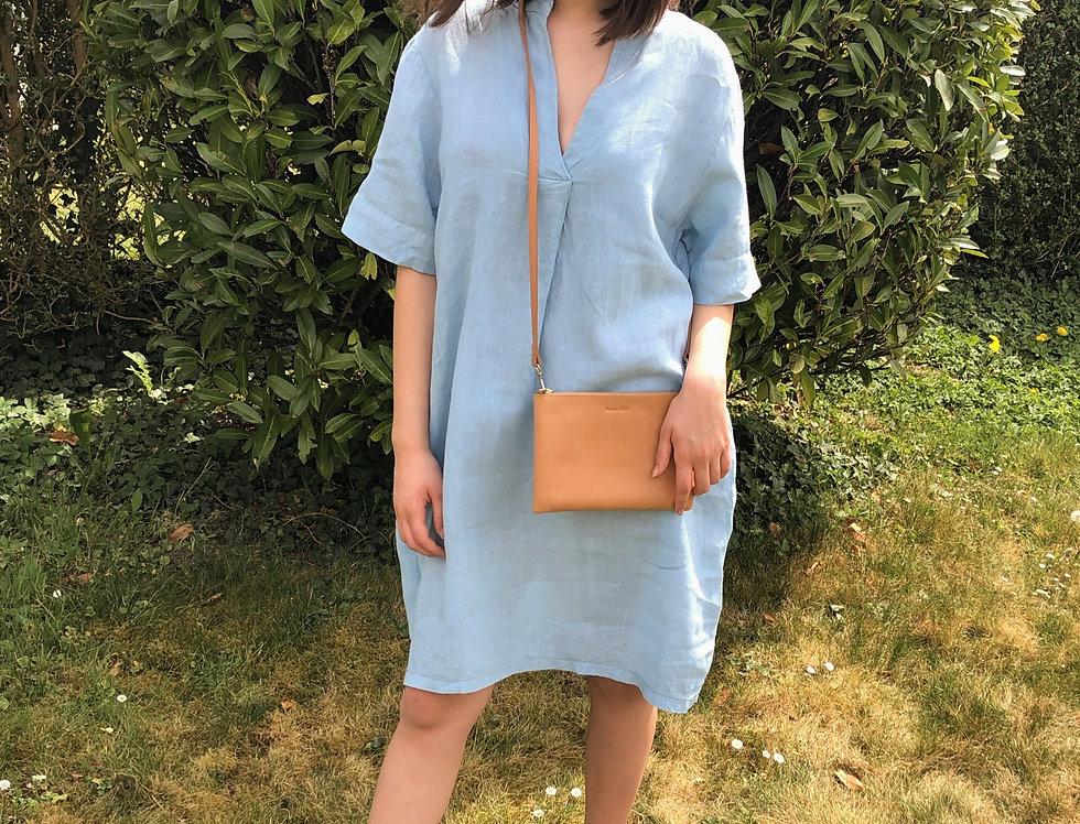 Linen Dress - Cielo