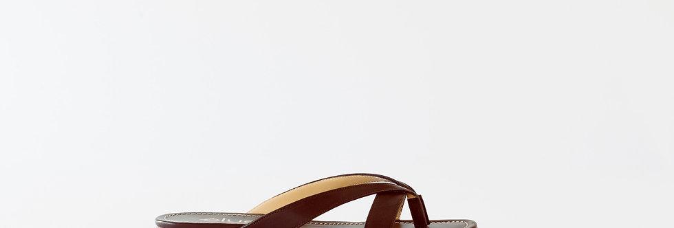 Slide in Flat - Dunkelbraun