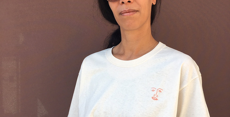 T-Shirt ecru (handbestickt)