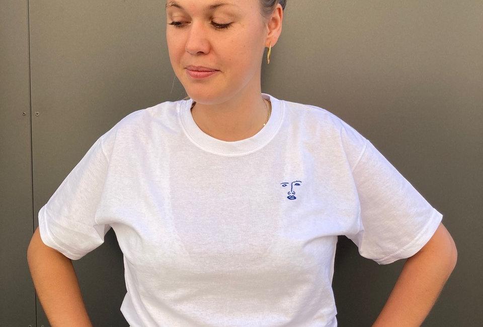 T-Shirt white (handbestickt)