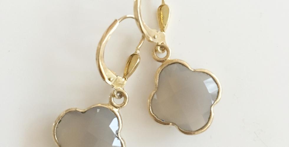 Earrings Achat Gold