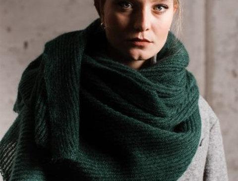 Mohair Schal dunkelgrün