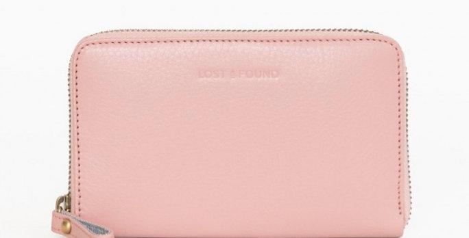 Mittleres Zip Around Wallet Blush