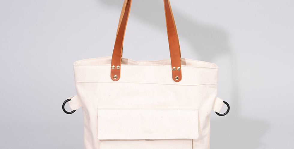 Fold Over Tote Natural