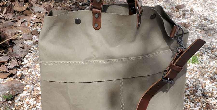Baggy Port KBS Bag light khaki/ brown leather