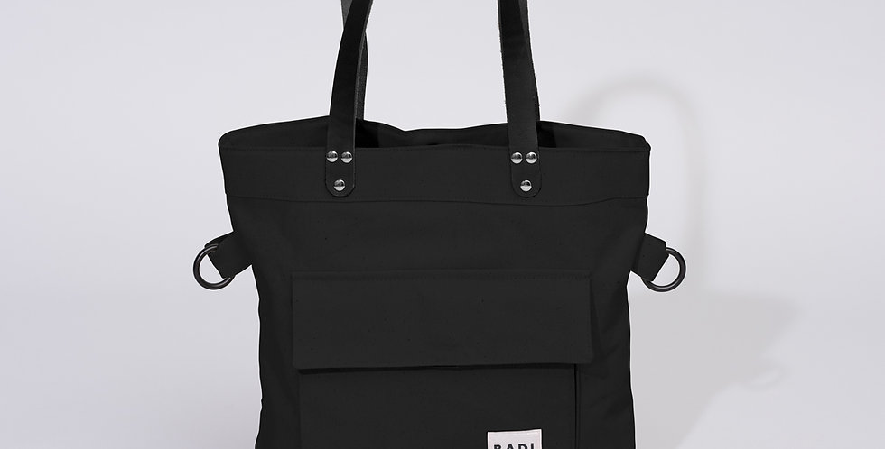 Fold Over Tote Black