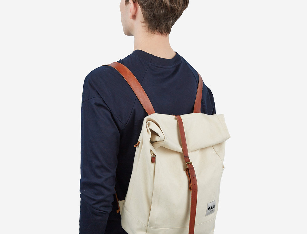 Roll Over Rucksack Natural