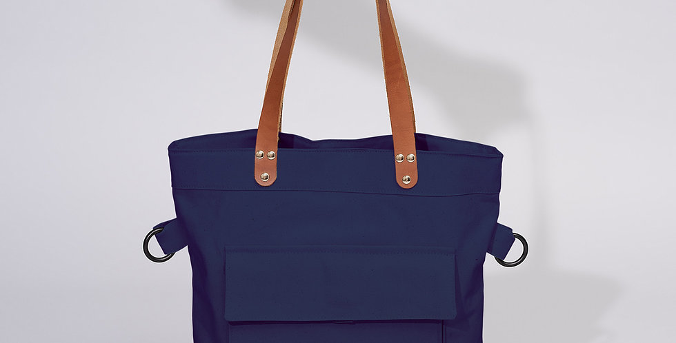 Fold Over Tote Ocean