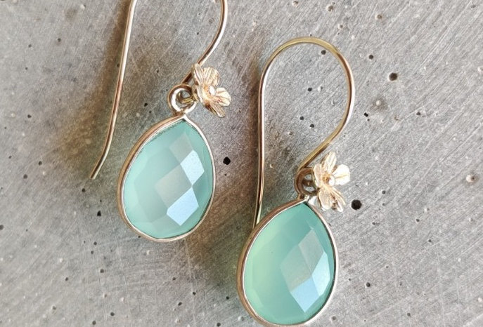 Silver Earrings with Chalcedon