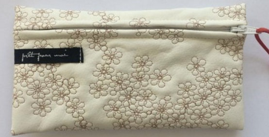 Simple Purse Mille Fleurs White