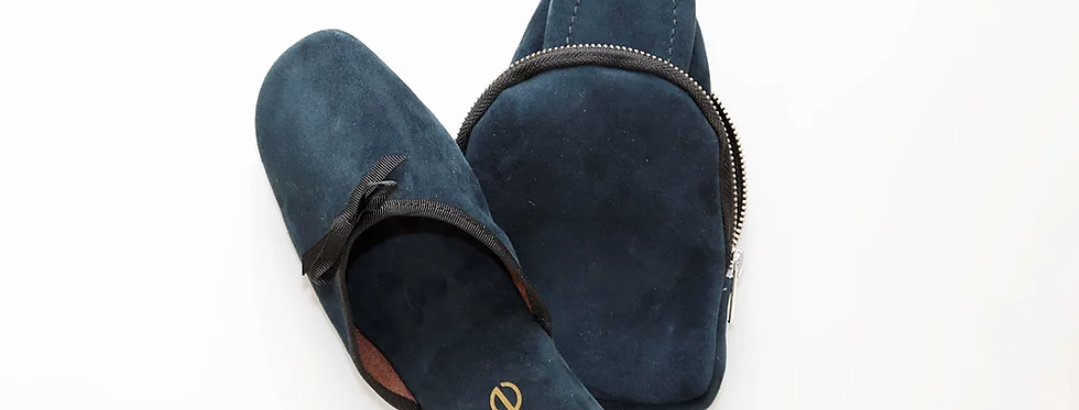 Slipper Blue Suede