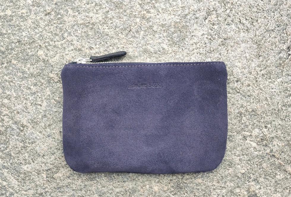 small wallet grey suede - wildleder portemonnaie grau