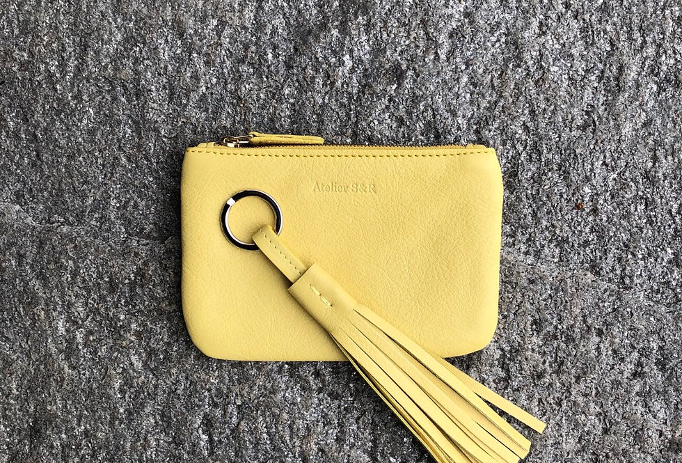 accessory set - lemon - wallet and keyholder