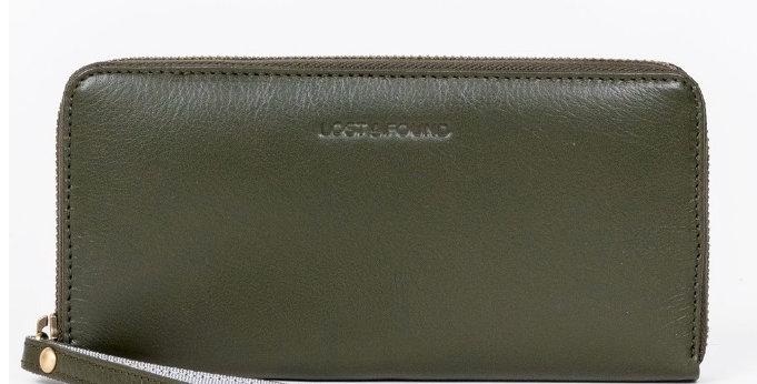Big Zip Around Wallet Olive