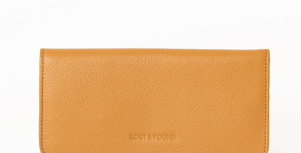 Slim Damenportemonnaie mustard lost and found