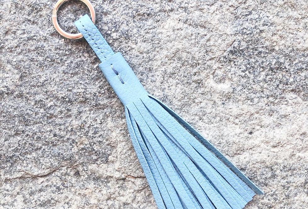 Keyholder Tassel Long Dusty Blue