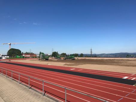 Neue Baustelle: Maur, Sanierung Sportanlage Loorenareal