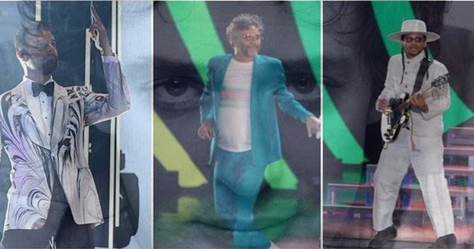 Homenaje a Gustavo Cerati en los Latin Grammy.