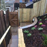 Retaining wall, Indian sandstone