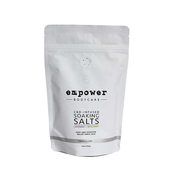 Empower Bath Soaking Salts 16oz 118mg CBD